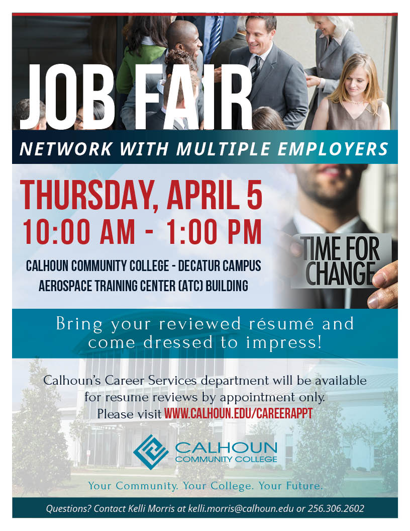 calhoun community college s career services department to host