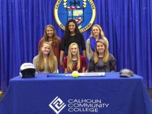 2018 Calhoun Softball Signees