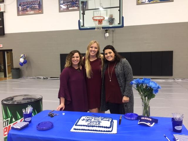 Sophomore Hostesses: Makaila Aday, Sydnee Uhlman, Brandi Bentley