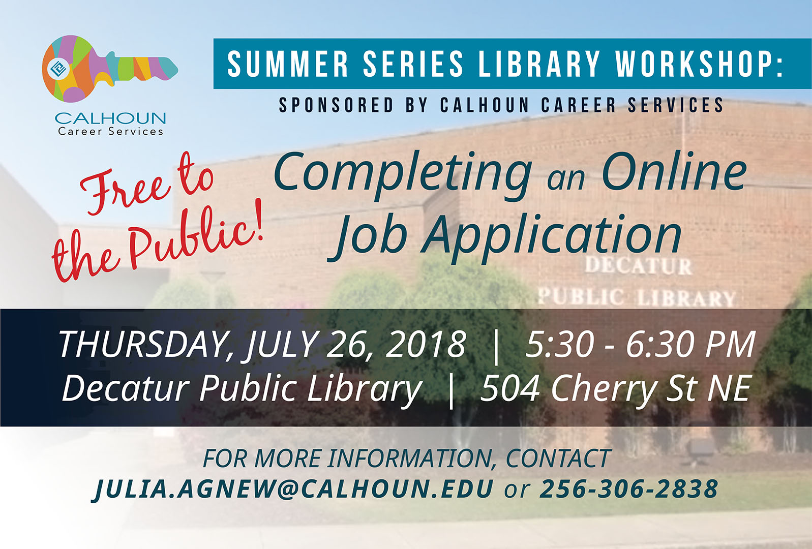 completing an online job application calhoun community college