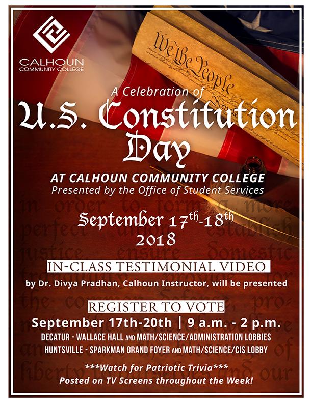 U S  Constitution Day – Calhoun Community College