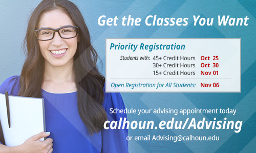 Get the classes you want. spring Priority registration starts Oct 25