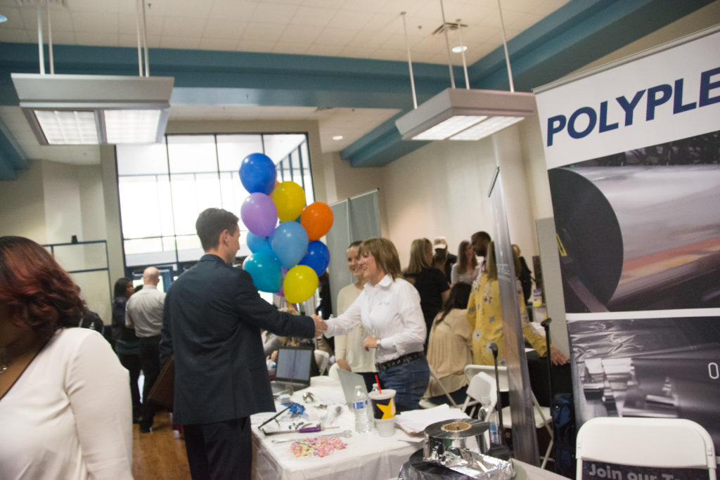 Photo from 2018 job fair on the Huntsville campus.