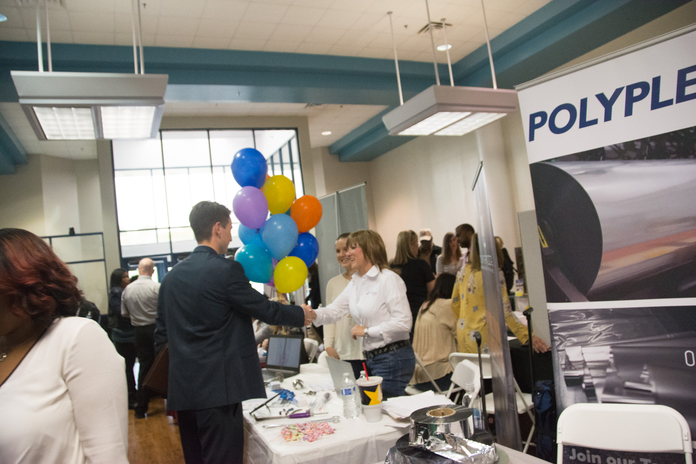 Photo from 2018 job fair on the Huntsville campus.