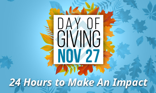 National Day of Giving is November 27. in just 24 short hours, you can make a BIG impact!