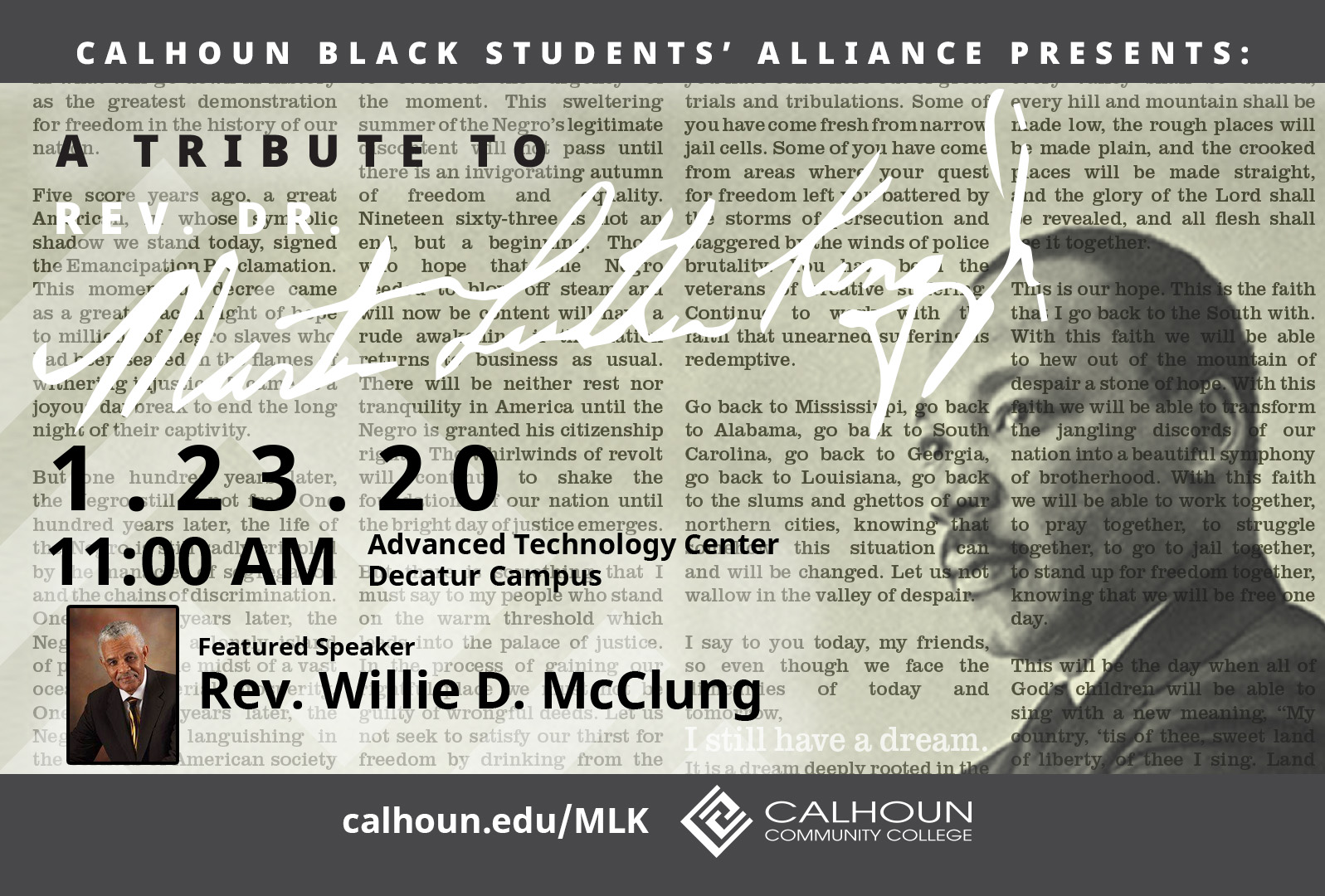 Martin Luther King Jr. program graphic