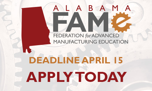 Start your manufacturing career! FAME application deadline is March 15.