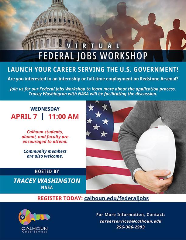 federal Jobs Workshop Flyer