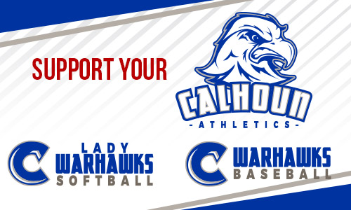 Spring seasons are under way! Click here to see the full spring schedule for Calhoun Warhawks Baseball and Lady Warhawks Softball.