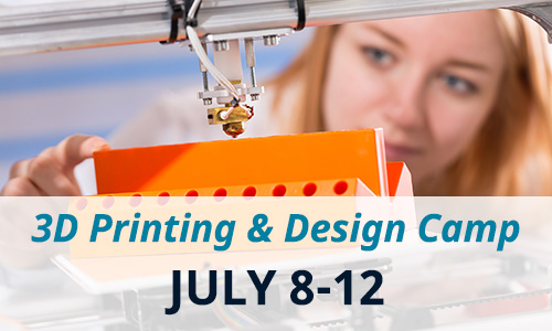 3D Printing & Design Camp! Learn how to use cutting edge technology to design and make your own objects!