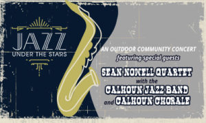 Jazz under the stars graphic