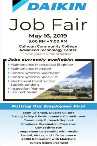 Daikin Job Fair Flyer