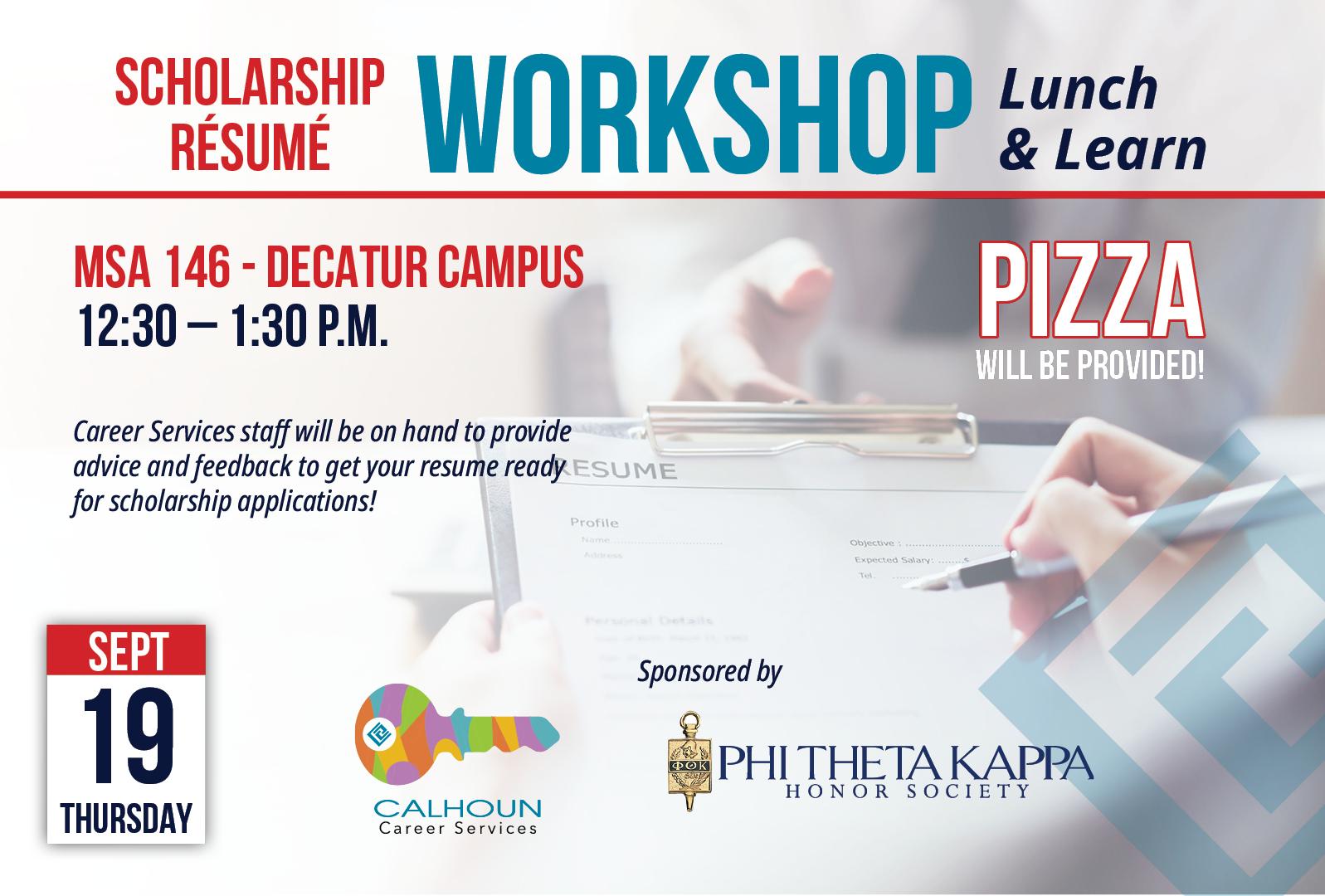 Scholarship Resume Workshop