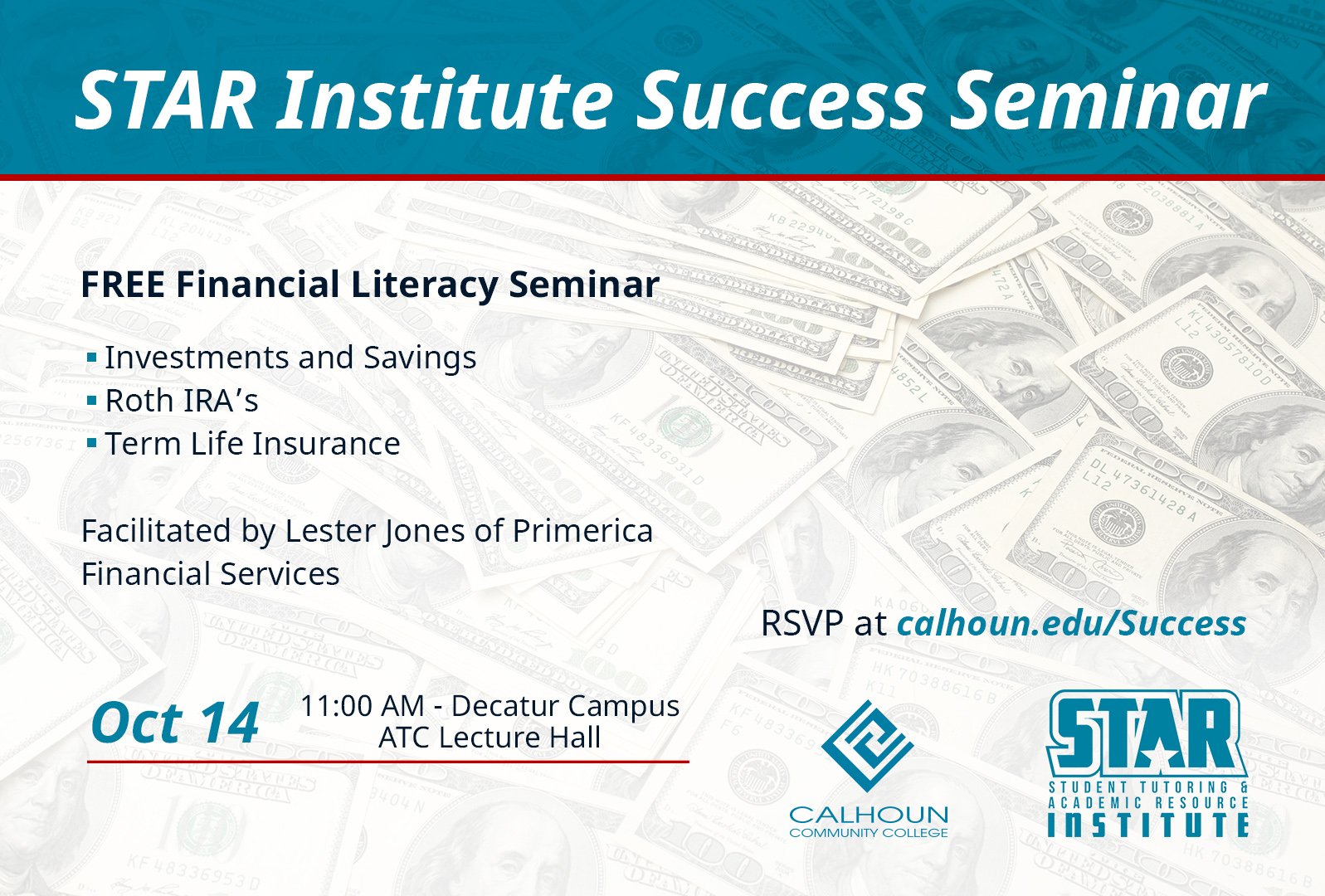 Financial Literacy Seminar graphic