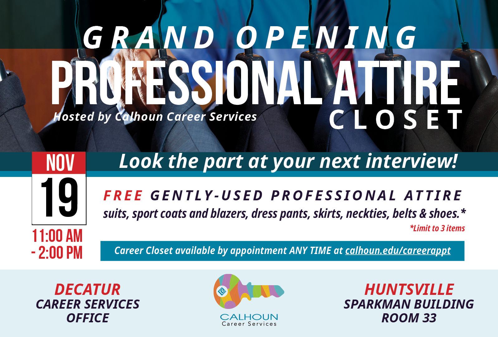 Professional attire clost graphic