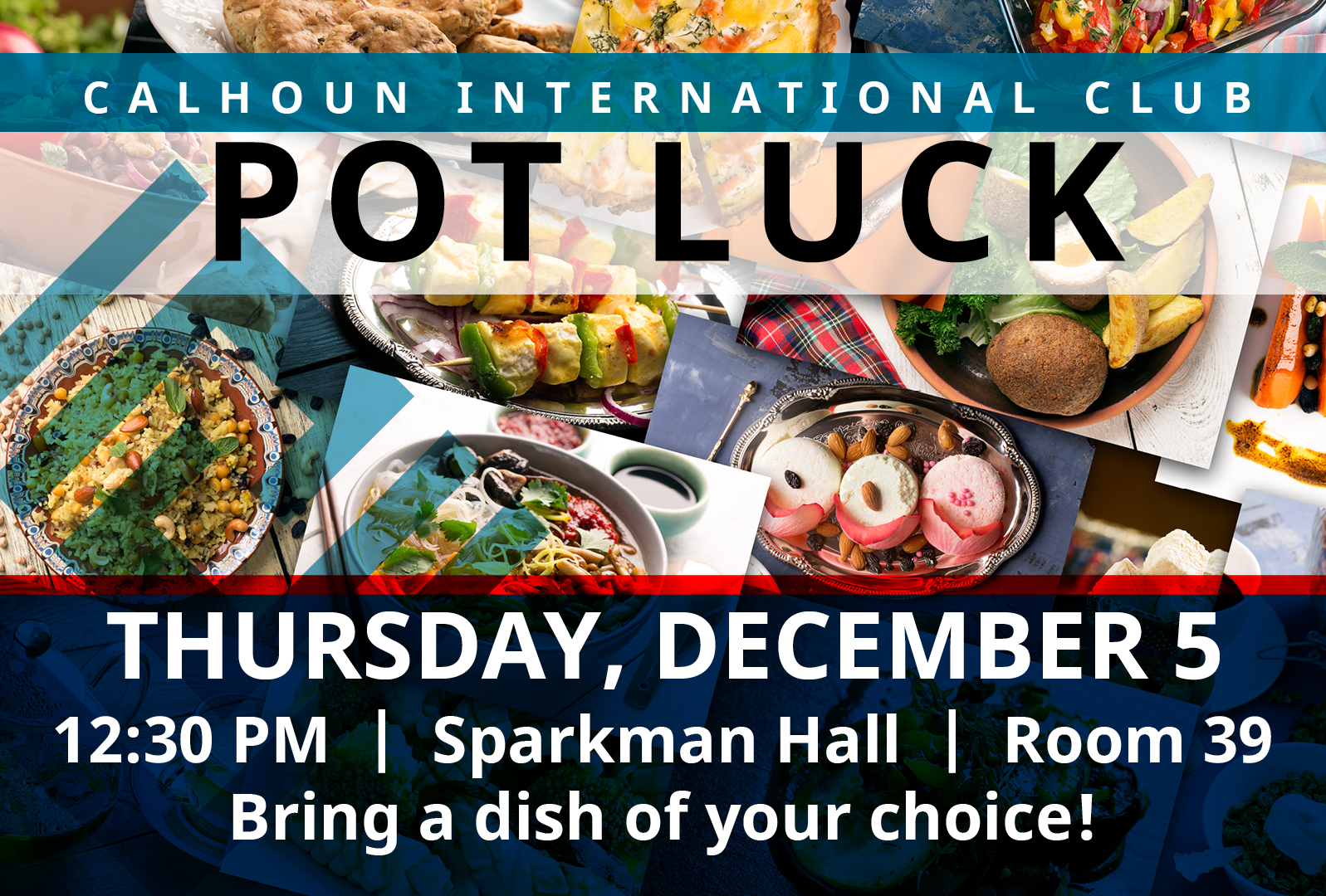 international Club Pot Luck flyer