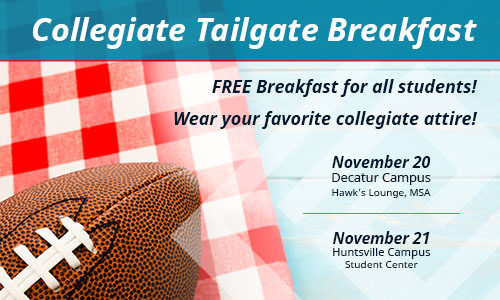 Collegeiate Tailgate Breakfast Graphic