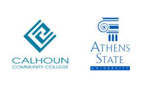 Calhoun and Athens State logos