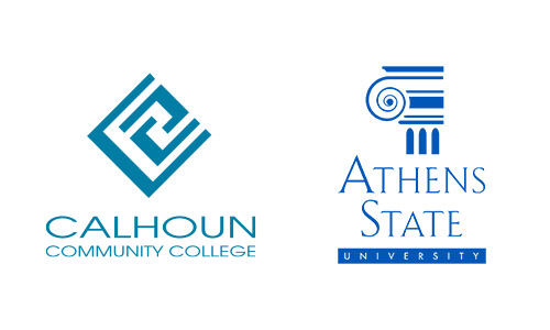 Calhoun and Athens State logos