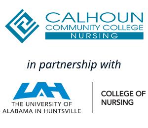 Calhoun + UAH Nursing logos
