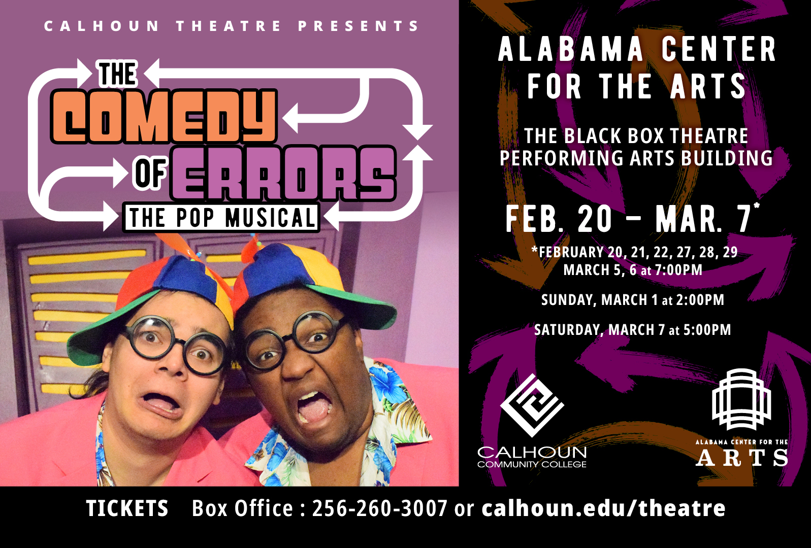 the comedy of Errors flyer