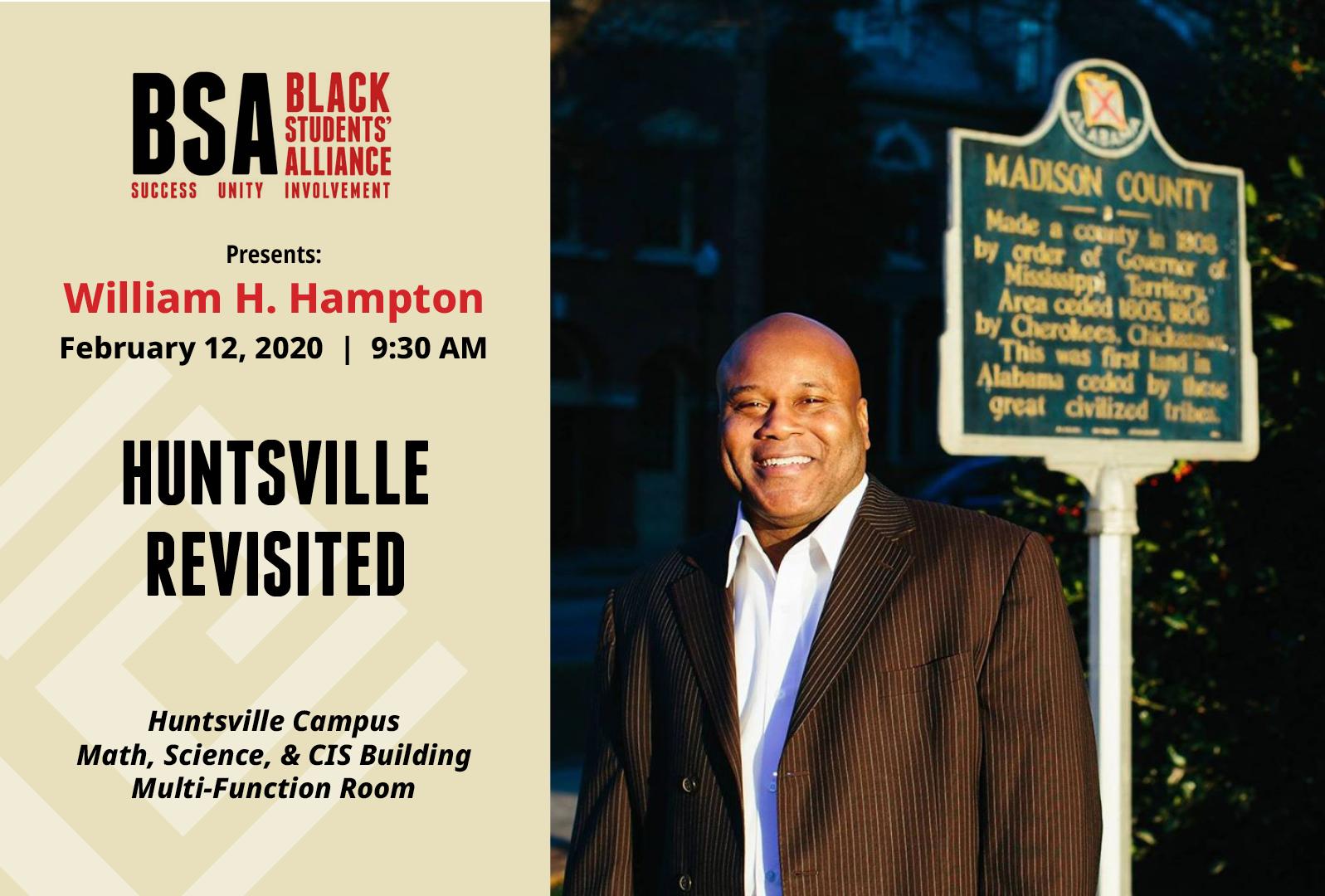 Huntsville revisted event flyer