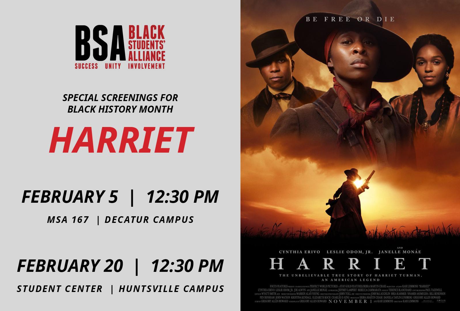 Harriet flyer graphic