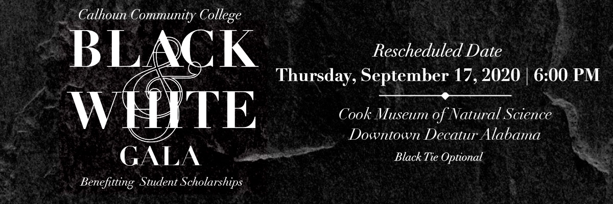Black and White Gala, Bennefitting Student Scholarships. Thursday, April 16, 2020 at 6:00 PM. Cook Museum of Natural Science, Downtown Decatur Alabama