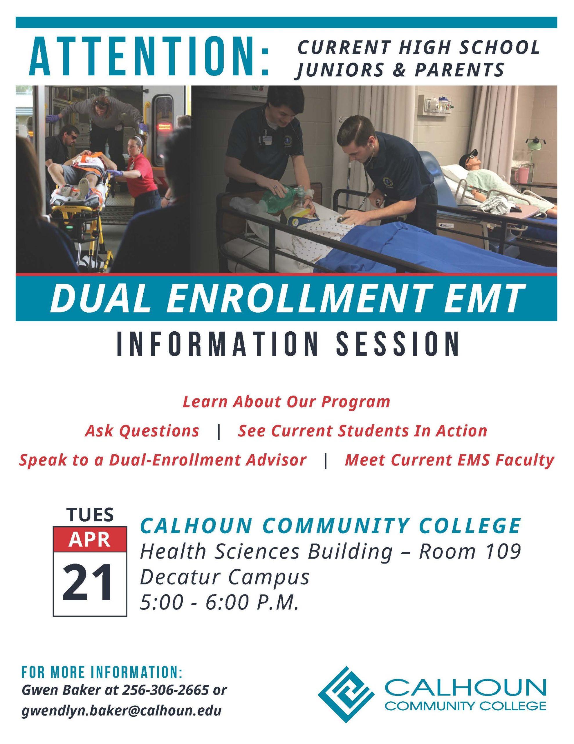 DE EMS info session flyer