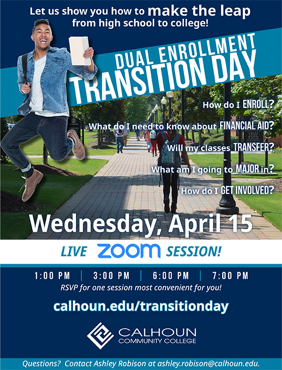 Dual Enrollment Transition Day Flyer