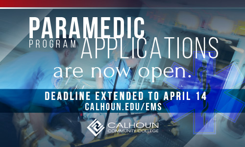 Paramedic applications now open graphic
