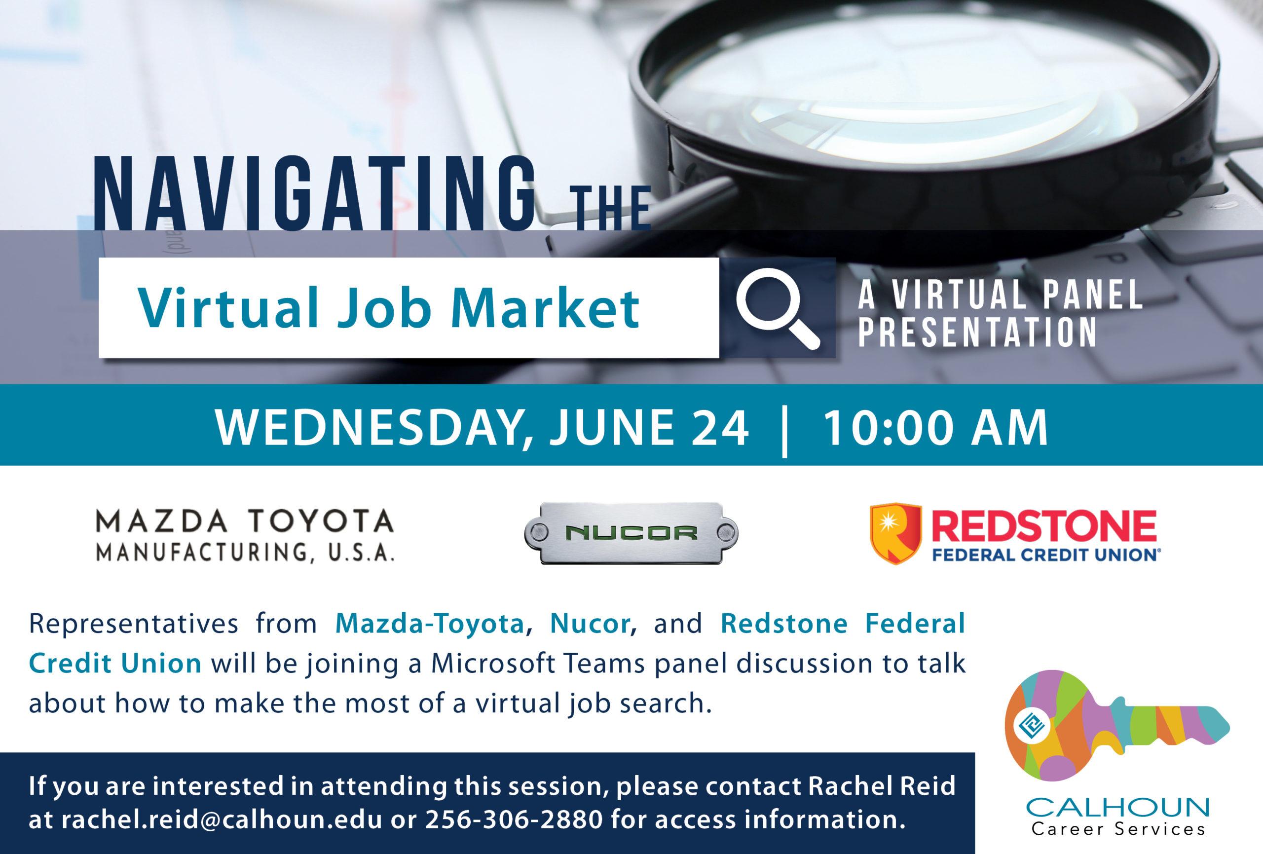 Navigating the cirtual job market graphic