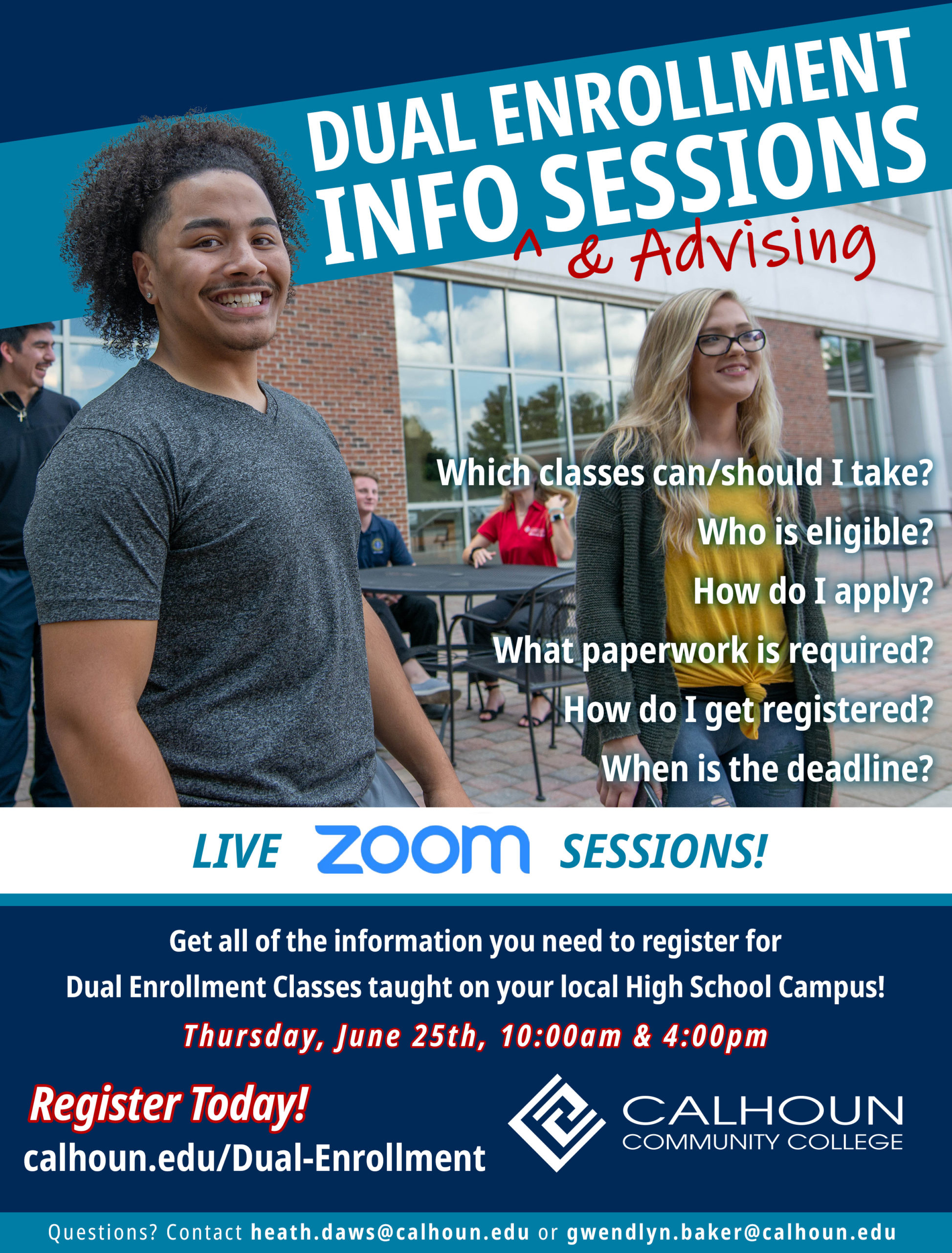 Dual Enrollment digital info sessions graphic