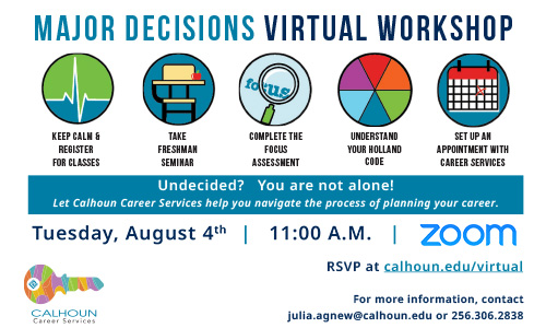 major decisions virtual workshop graphic