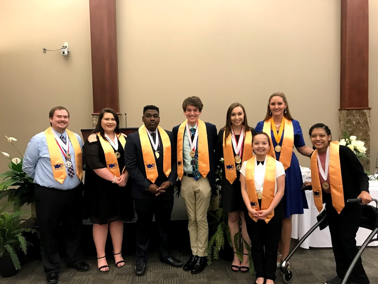 PTK 2018-2019 Calhoun officer team