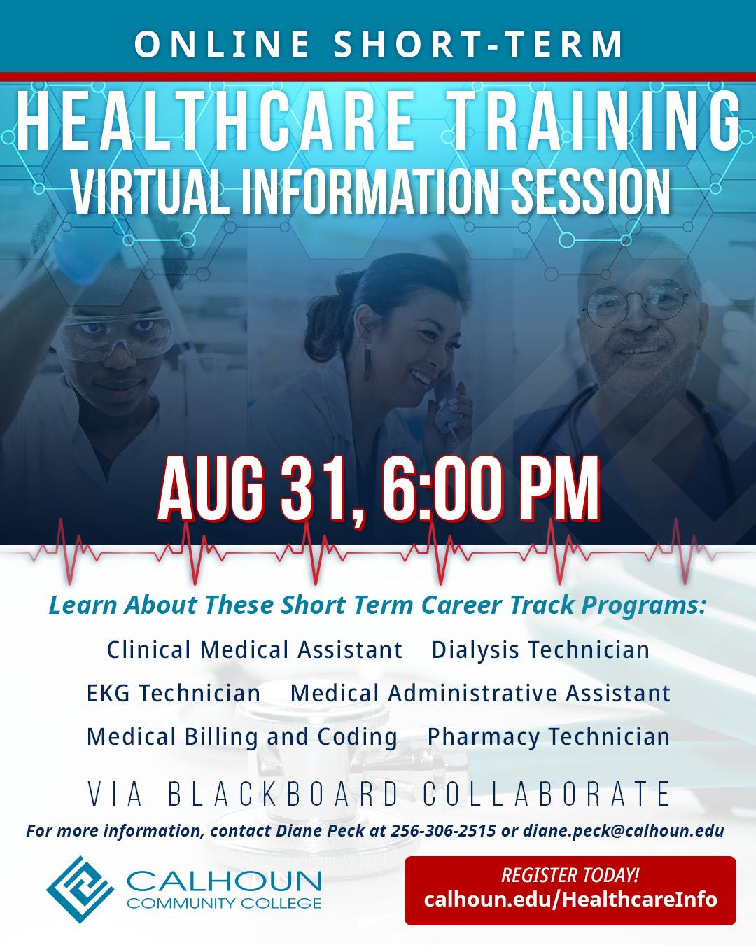 Healthcare Info Session graphic