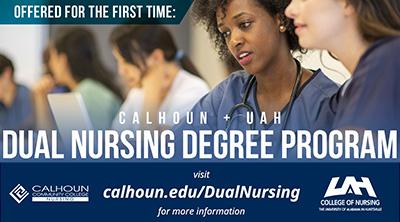 Calhoun + UAH Dual Nursing web graphic