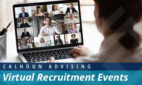 calhoun advising virtual recruitment events