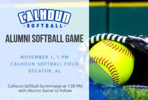 alumni softball game graphic