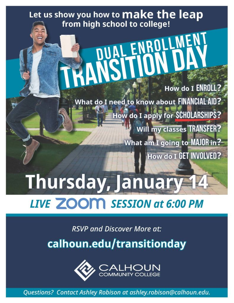 Dual Enrollment Transition Day Graphic