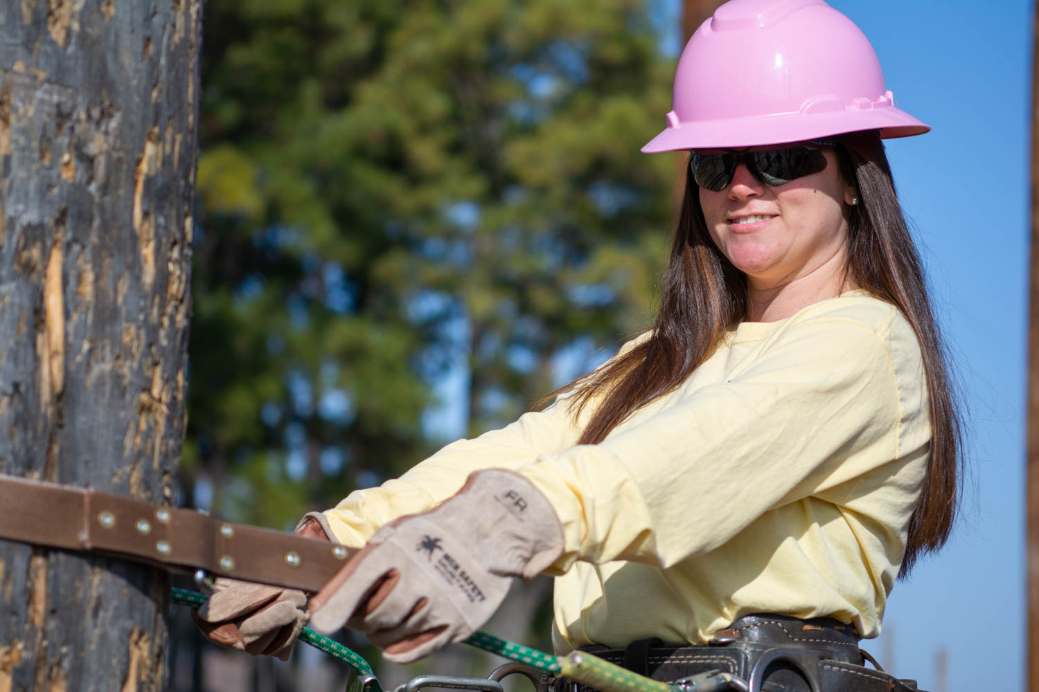 Lady Lineworker Image