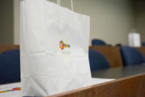 employer day giveaway bag